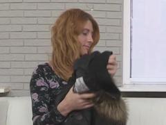Ruská zrzka na pouličním castingu