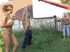 České příběhové porno na vesnici