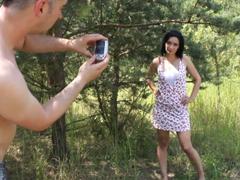 Český sex casting v přírodě s kurvičkou
