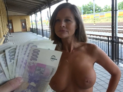 České porno – šukání na nádraží